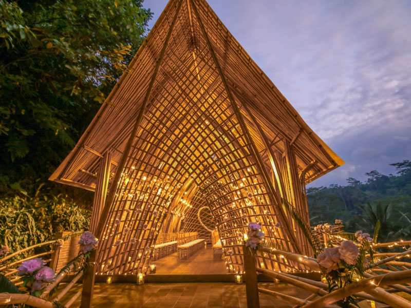 Bamboo Chapel by Kupu Kupu Barong Villas